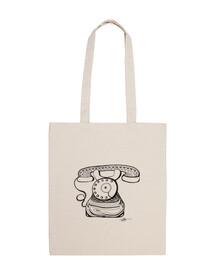 teléfono de la vieja escuela - bolso