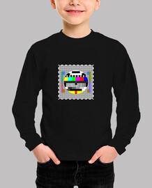 televisor de patrón de prueba de camiseta para niños
