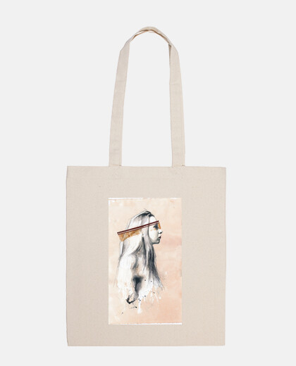 tell me a happy ending story / shoulder bag 100 cotton