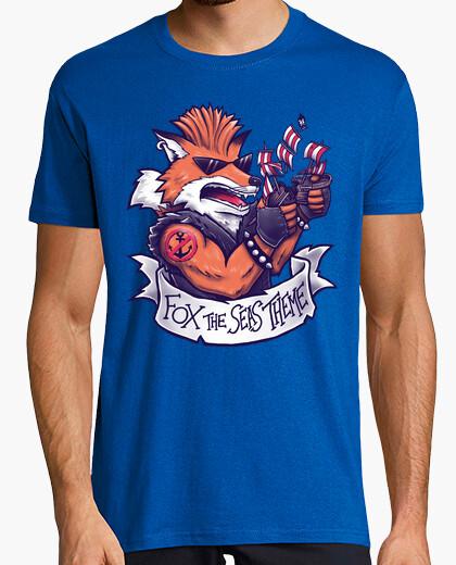 Camiseta tema zorro los mares
