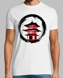 Templo rojo circulo