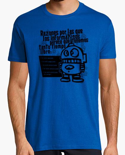 T-shirt tempo libero del computer - uomo