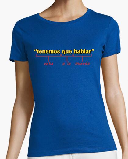 Camiseta Tenemos que hablar chica