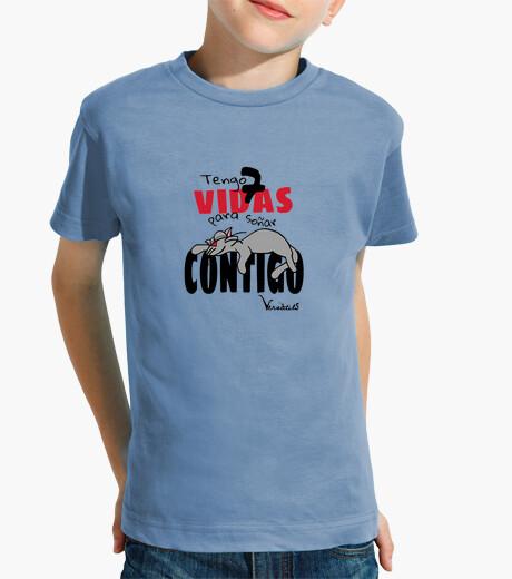 Ropa infantil Tengo 7 Vidas Camiseta Niño Manga Corta