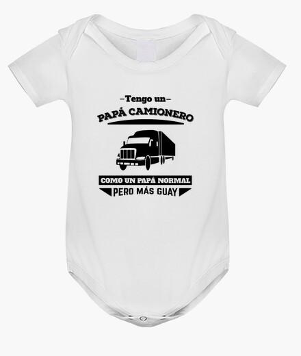 Ropa infantil Tengo un Papá Camionero, Como un Papá Normal Pero Más Guay - Fondos Claros