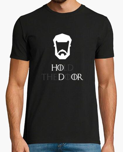Tee-shirt tenir la porte