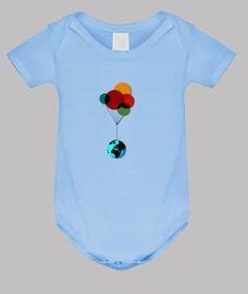 TERRE & BALLONS // Body bébé / Bleu
