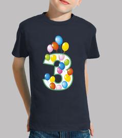 terzo compleanno palloncini