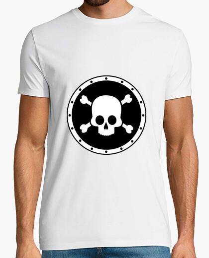 t-shirt maglia nera donna uomo disegno teschio morte idea regalo