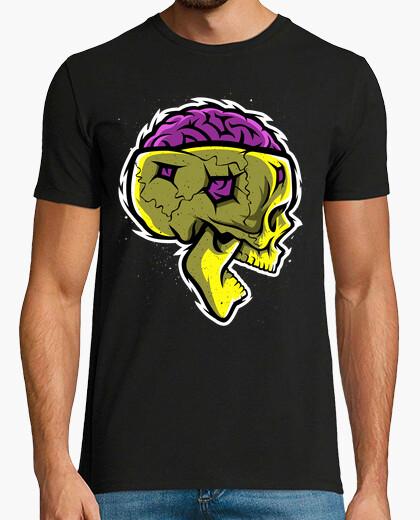 T-shirt teschio cerebrale