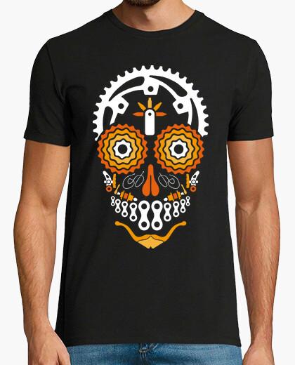 T-shirt teschio ciclista