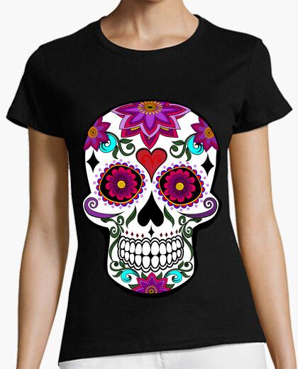 T-shirt teschio floreale cooltee. tostadora