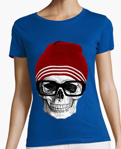 T-shirt teschio hipster