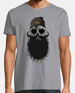 teschio hipster skull barbuto