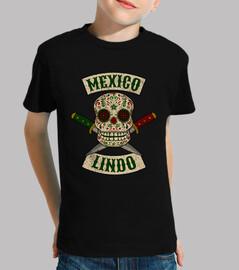 teschio messicano con coltelli carino messico