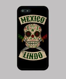 teschio messicano con coltelli lincalavera messico messicana con cute pugnali messico