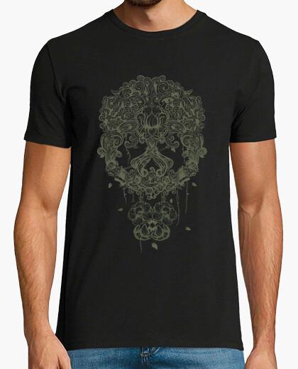 T-shirt teschio messicano verde
