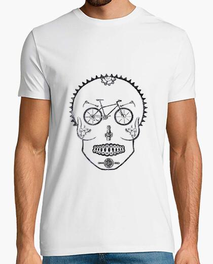 T-shirt teschio moto