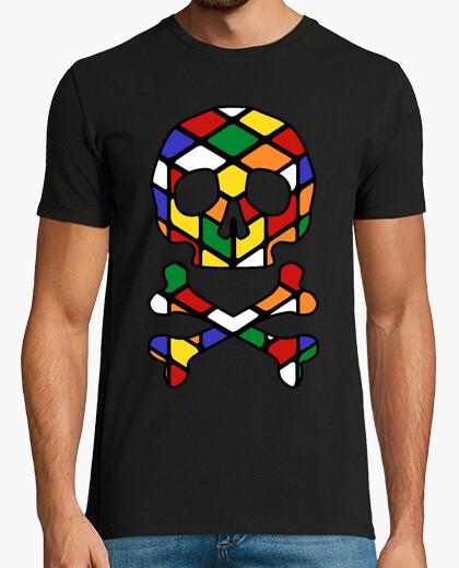 T-shirt teschio rubik