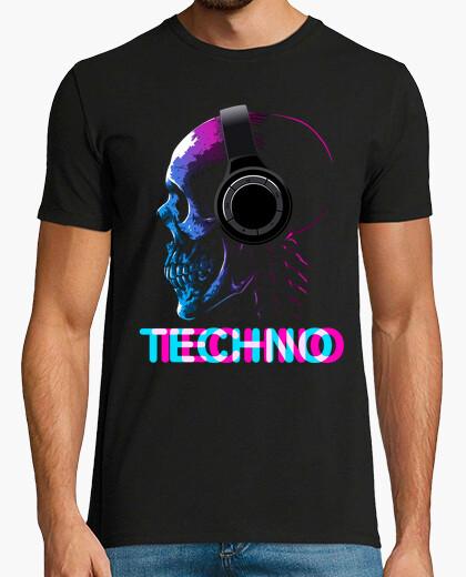T-shirt teschio techno