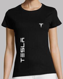 tesla vertical y logo