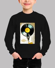 tesoro de vinilo // niño / camiseta negra