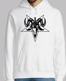 testa di capra satanica con pentagramma