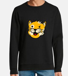testa di gatto faccia di gatto diverten