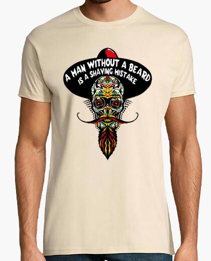 T-shirt testa di morte hipster skull gru messic