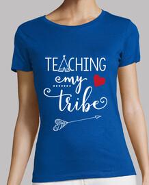 testo della t-shirt insegna alla mia tribù