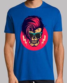 Tete de mort hipster crane skull