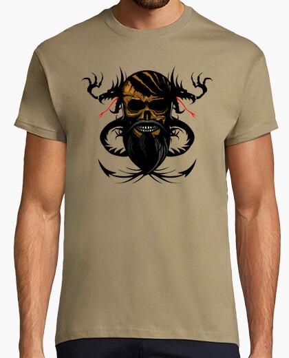 Tee-shirt Tete de mort hipster crane skull barbu