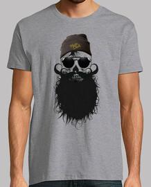 Tete de mort hipster crane skull barbu