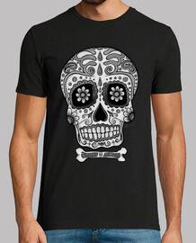 Tête de mort mexicain noir et blanc !!!