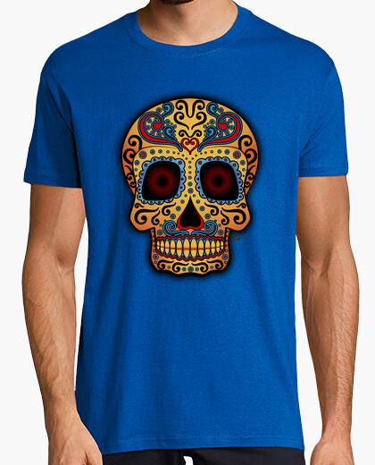 Tee-shirt Tête de mort mexicain tribal !!!