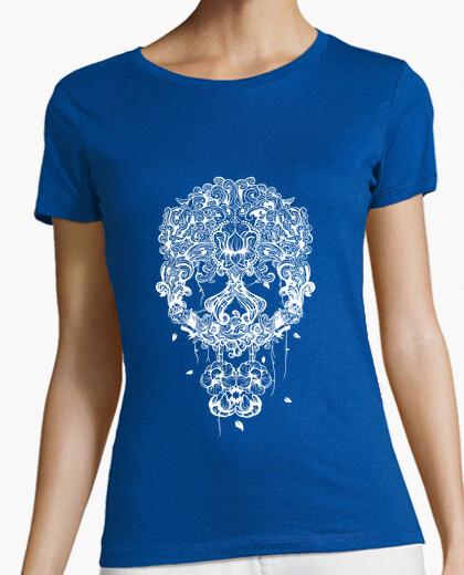 Tee-shirt Tête de mort mexicaine blanc