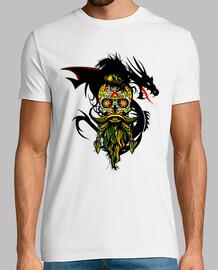 Tete de mort mexicaine dragon hipster c