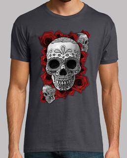 Tête de mort mexicaine n roses !!!