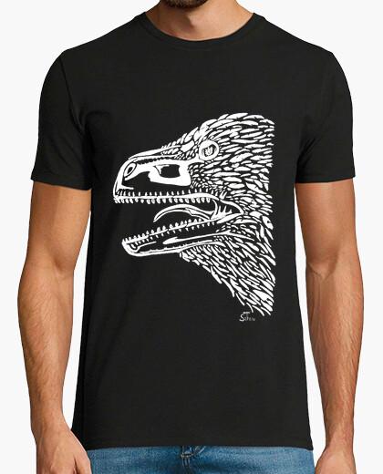Tee-shirt tête de utahraptor - blanc