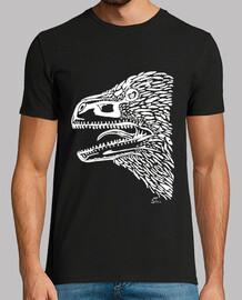 tête de utahraptor - blanc