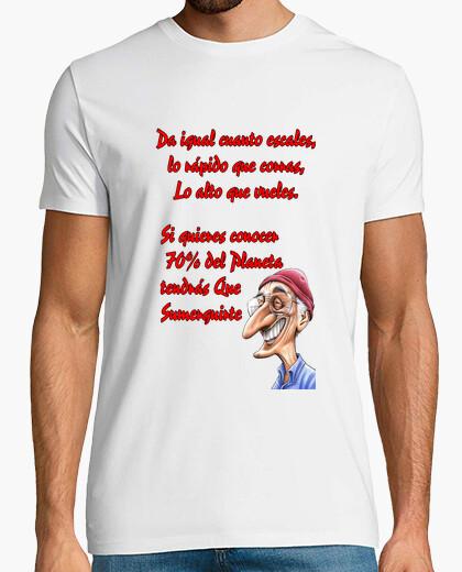 Camiseta texto Jacques Cousteau