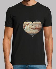TextoConCorazón-Camiseta Chico MCNegro