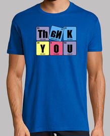 THANK YOU: Hombre, manga corta, amarillo limón, calidad extra
