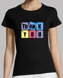 THANK YOU: Mujer, manga corta, negra, calidad premium