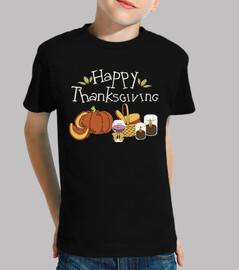 Thanksgiving picnic happy pumpkin