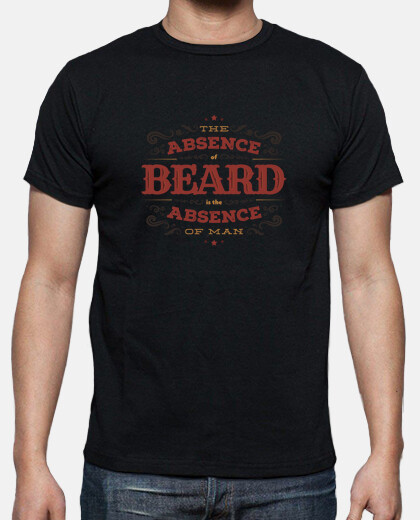 THE ABSENCE OF BEARD tshirt homme