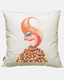 the bandit squirrel and acorns