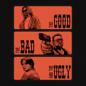 Camisetas The Big Lebowski, the bad and the ugly