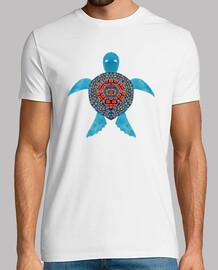 the blue tribal sea turtle
