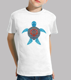 the blue tribal sea turtle